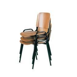 Sedia attesa Dado Unisit - legno - nero - legno - D5L/2 - conf. 2
