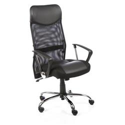 Vegas Executive Chair Black Bonded Leather Seat Black Mesh Back With Bonded Leather Headrest With Arms Ref EX000074