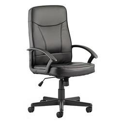Blitz Executive Black Chair Black Bonded Leather With Arms Ref EX000137