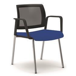 Sedia attesa Kind Unisit con braccioli - ignifugo - blu - KI4GNBR/IB