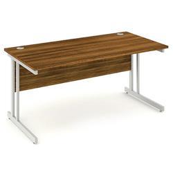 Impulse Cantilever 1600 Rectangle Desk Walnut Ref I000329