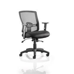 Portland II Task Operator Chair Black Mesh With Arms Ref OP000108
