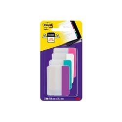 Segnapagina Post-it® Index Strong - removibili - per cassettiera - bordi assortiti - 6 ff - conf. 4