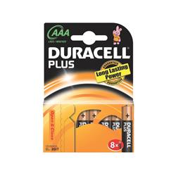 Batterie alcaline Duracell Plus Power Ministilo 2400 mAh AAA conf. da 8 - DU0210