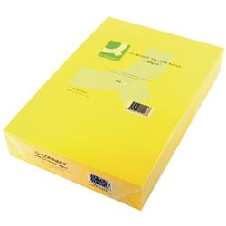 Q-Connect Bright Yellow Coloured A4 Copier Paper 80gsm Ream (Pack of 500 Sheets) Ref KF01426