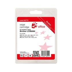 5 Star Office Remanufactured Inkjet Cartridge Page Life Black 300pp [Brother LC980BK Alternative] Ref 942770