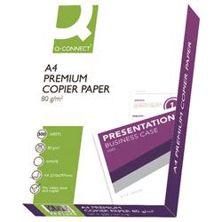 Q-Connect Premium Copier/Laser A4 Paper 80gsm White (5 x 500 Sheets)  Ref KF01088A