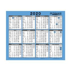 At-A-Glance 2020 Wall/Desk Calendar Year to View Gloss Board Binding 254x210mm White/Blue Ref 930 2020 Ref 930 2020