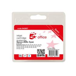 5 Star Office Remanufactured Inkjet Cartridge Page Life Cyan 450pp [Epson C13T29924012 Alternative] Ref 942857