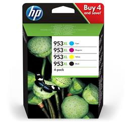 Originale cartuccia inkjet HP 953 XL - alta capacità - 4 colori - 3HZ52AE - conf. 4