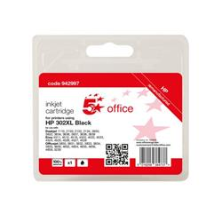 5 Star Office Remanufactured Inkjet Cartridge Page Life Black 480pp [HP No.302XL F6U68AE Alternative] Ref 942997