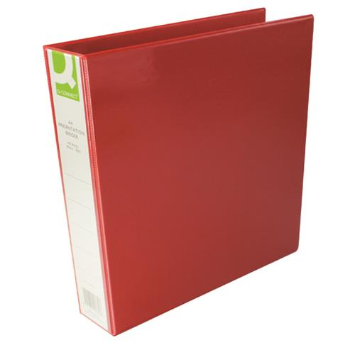 Buy Q-Connect Presentation 40mm 4 D-Ring Binder A4 Red Ref