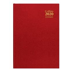Collins 2020 Desk Diary Day to Page Sewn Binding A4 297x210mm Assorted Ref A44 2020 Ref A44 2020