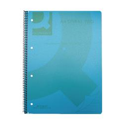 Q-Connect Spiral Bound Polypropylene Notebook 160 Pages A4 Blue (Pack of 5) Ref KF10037