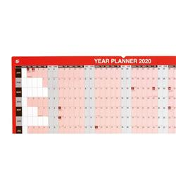 5 Star Office 2020 Year Planner Mounted Landscape with Planner Kit 915x610mm Red Ref 140665