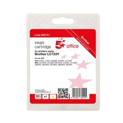 5 Star Office Remanufactured Inkjet Cartridge Page Life Yellow 600pp [Brother LC123Y Alternative] Ref 942741