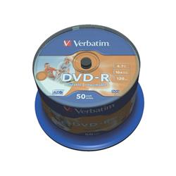DVD-R Verbatim 4.7 GB  in confezione da 50 dvd - 43533