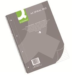 Q-Connect Ruled Margin Spiral Soft Cover Notebook 160 Pages A4 (Pack of 5) Ref KF01072