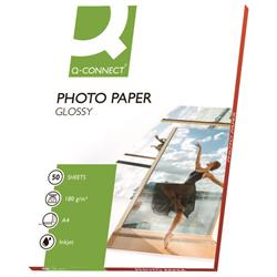 Q-Connect A4 Gloss Photo Paper 180gsm (Pack of 50) Ref KF02771
