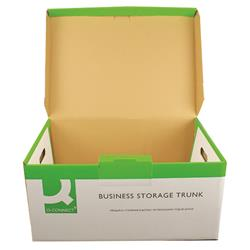Q-Connect Business Storage Trunk Green and White (Pack of 10) Ref KF21663
