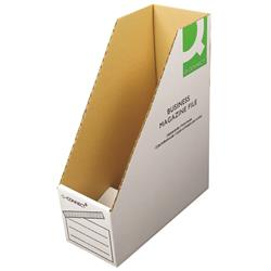 Q-Connect Business Magazine File W100xD230xH300mm White (Pack of 10) Ref KF21659