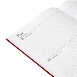 5 Star Office 2020 Diary Two Days to Page Casebound and Sewn Vinyl Coated Board A4 297x210mm Red Ref 163132