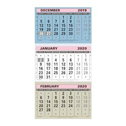 At-A-Glance 2020 Wall Calendar Three Months to View Board Binding 300x595mm Assorted Ref TML 2020 Ref TML 2020