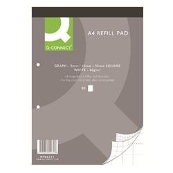 Q-Connect A4 Graph Refill Pad 80 Sheet (Pack of 10) Ref KF02231