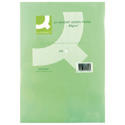 Q-Connect Bright Green Coloured A4 Copier Paper 80gsm Ream (Pack of 500) Ref KF01429
