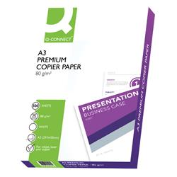 Q-Connect Premium Copier/Laser A3 Paper 80gsm White Ream (Pack of 500) Ref KF01425