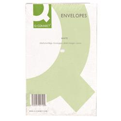 Q-Connect C4 Envelopes Peel and Seal 100gsm White (Pack of 250)  Ref KF03291