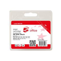 5 Star Office Remanufactured Inkjet Cartridge Page Life Black 600pp [HP No.62XL C2P05AE Alternative] Ref 943100