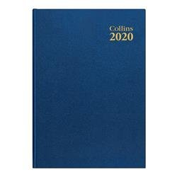 Collins 2020 Desk Diary Week to View Sewn Binding A4 297x210mm Blue Ref 40 Blue 2020 Ref 40 Blue 2020
