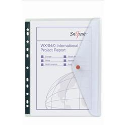 Snopake Polyfile Ring Binder Wallet Clear A4 Ref 12566 [Pack 5] - 3 for 2