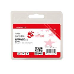 5 Star Office Remanufactured Inkjet Cartridge Page Life Black 300pp [HP No.903 T6L99AE Alternative] Ref 943115