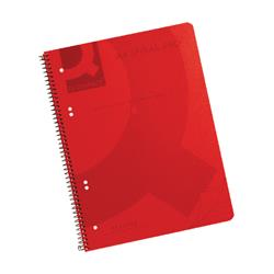 Q-Connect Spiral Bound Polypropylene Notebook 160 Pages A4 Red (Pack of 5) Ref KF10038