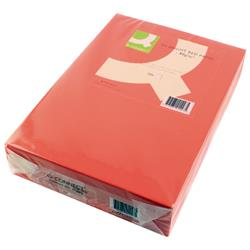 Q-Connect Bright Red Coloured A4 Copier Paper 80gsm Ream (Pack of 500) Ref KF01427