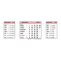 At-A-Glance 2020 Refill Dates for Three Months to View Desk Calendar 210x80mm White Ref 3SR 2020 Ref 3SR 2020