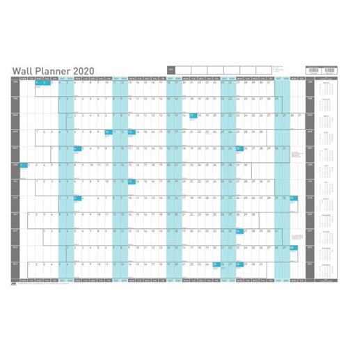 Uk Grid Finder >> Sasco 2020 Wall Planner Unmounted with Pen Kit Landscape 915x610mm White Ref 2410125 Ref 2410125 ...