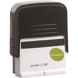 Q-Connect Voucher for Custom Self-Inking Stamp 57 x 20mm Ref KF02112
