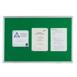 Q-Connect Aluminium Frame Felt Noticeboard 900x600mm Green 54034203 Ref KF26063
