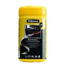 Fellowes Multi Surface Wipes Drum Pack 100