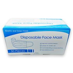 Disposable Face Mask 3-PLY Pack 50