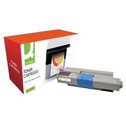 Q-Connect Compatible Solution Oki Toner Cartridge 44973536 Black 44973536 Ref OB02629