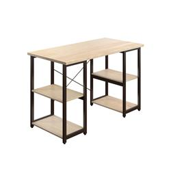 SOHO Home Working Desk with Square Shelves - Oak / Dark Brown