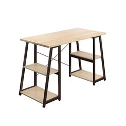 SOHO Home Working Desk with A-Frame Shelves - Oak / Dark Brown