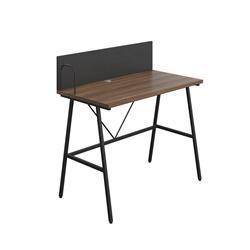 SOHO Home Working A-Frame Desk with Backboard - Dark Walnut / Black