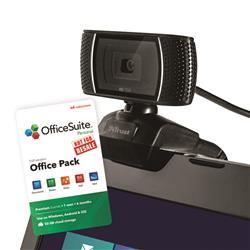 Trust Trino HD Video Webcam FOC 6 Month Officesuite Licence