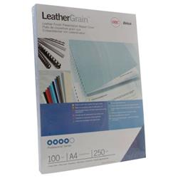 GBC LeatherGrain A4 Binding Cover 250 gsm Royal Blue (Pack of 100) CE040029