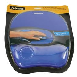 Fellowes Crystals Gel Mouse Pad Blue 9114106 - Free Wireless Charger Offer